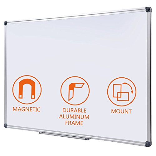 Dry Erase Board 24x36 | LARGE Magnetic Whiteboard with Aluminum Frame | Dryerase Marker Boards for Office Bulletin or Calendar |Perfect for Universal Black Erasers Markers Dry Erase Bulletin Board