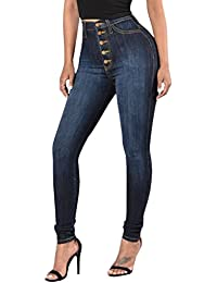 Women Sexy Elastic Butt Lift High Waisted Skinny Jeans Denim Pants