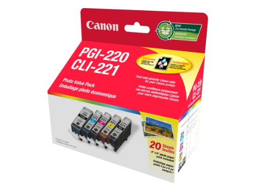 - Canon PGI-220/CLI-221 Combo Pack