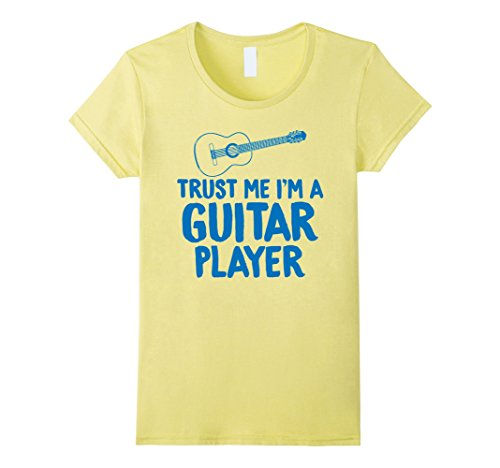 Womens Trust Me I'm a Guitar Player Electric Acoustic T Shirt Gifts XL Lemon by Unknown