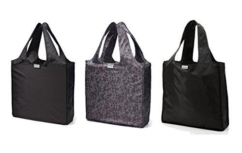 rume-bags-medium-shopping-tote-bags-trio-set-of-3-herringbone-echo-solid-black