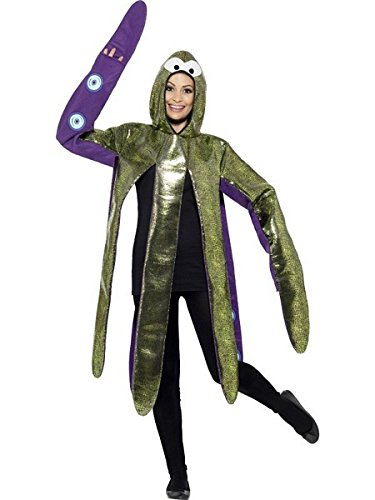 (Smiffys Adult Unisex Octopus Costume, Foam Bonded with Hooded Tabard, Party Animals, Serious Fun, One Size,)