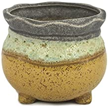 Dahlia Vintage Glazed Layer Ceramic Succulent Planter/ Plant Pot/ Flower Pot/ Bonsai Pot, #7