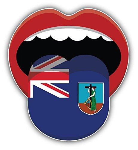 Montserrat Flag Mouth Home Decal Vinyl Sticker 5'' X 5''