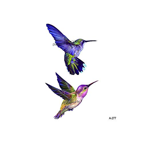 Natural1 Watercolor Hummingbird Temporary Fake Tattoo Body Art Sticker Waterproof Hand Bird Tattoo For Men Hot Design 9.8X6Cm A-103,A 277