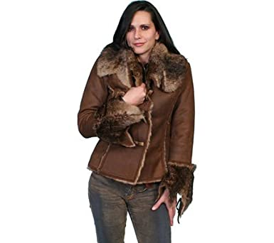 Scully Women's Faux Fur And Suede Jacket - 8010 Jva at Amazon ...