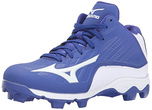 - Mizuno 9 Spike ADV YTH FRHSE8 MD RY-WH Youth Molded Cleat (Little Kid/Big Kid), Royal-White, 1 M US Little Kid