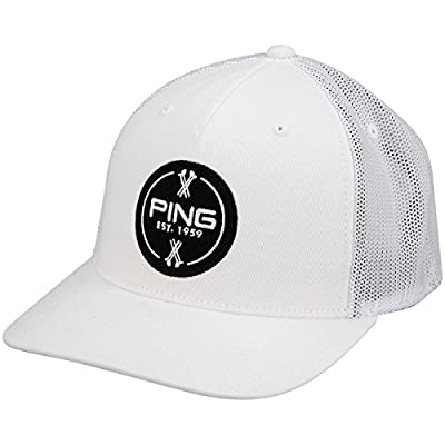 Ping 2015 Patch Structured Hat (Adjustable) Flexfit 110 Golf Cap from Ping