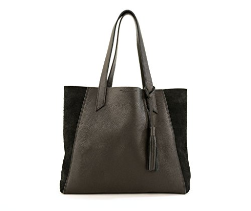 June Tote- Black Leather Tote by Shana Luther Handbags