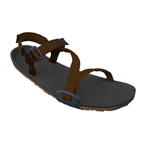 Xero Schuhe Barfuß-inspirierte Sport Sandalen - Frauen Z-Trail Kohle Schwarz / Mokka Erde