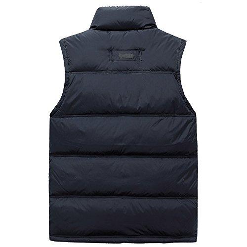 Antivento All'acqua Maniche Inverno Resistenti Giù Profondo Outwear Autunno Gilet Cappotto Kindoyo Zip Blu Mens E Senza vIwTqnOF