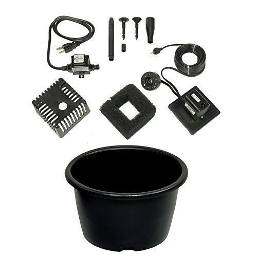 Beckett Barrel Patio Water Gardening Container Kit, 20 gallon