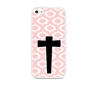 Have Faith Baby Pink Ikat Hipster White White iPhone 5 Case - Fits iPhone 5