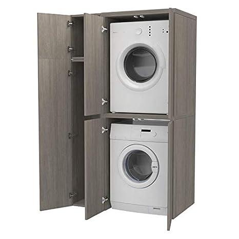 Ve.Ca. Colonna + vano accessorio con ante Copri lavatrice ...