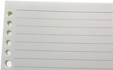 con bolsillo y soporte para bol/ígrafos Minlna se puede dar como regalo. 200 p/áginas gruesas Cuaderno de piel A5 con hojas sueltas rellenables