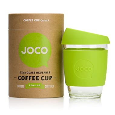 JOCO Glass Reusable 12oz Coffee Cup (Lime)