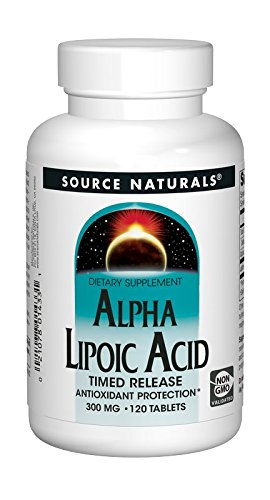 Source Naturals Alpha Lipoic Acid 300 mg Powerful Time Released Antioxidant (600 mg per serving) - 120 Tablets