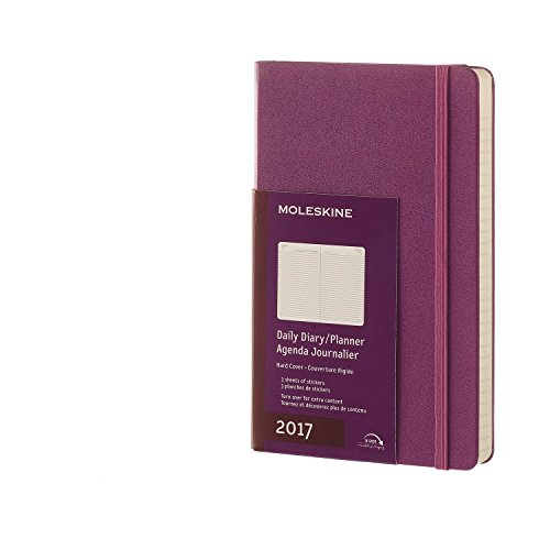 Price comparison product image Moleskine 2017 Daily Planner,  12M,  Large,  Grape Violet,  Hard Cover (5 x 8.25)