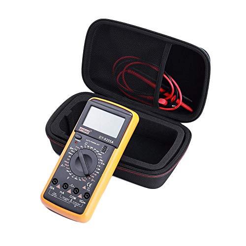 (Woolves Multimeter Case with Zipper Tool Bag Organizer EVA PU Hard Travel Protective Carry Storage Pouch Cover Multipurpose Instrument Bag for Fluke F117C/ F17B+/ F115C Digital Multimeter)