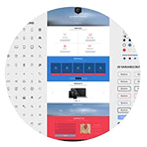 alfombrilla de ratón La plantilla del interfaz del sitio web una página - ronda - 20cm