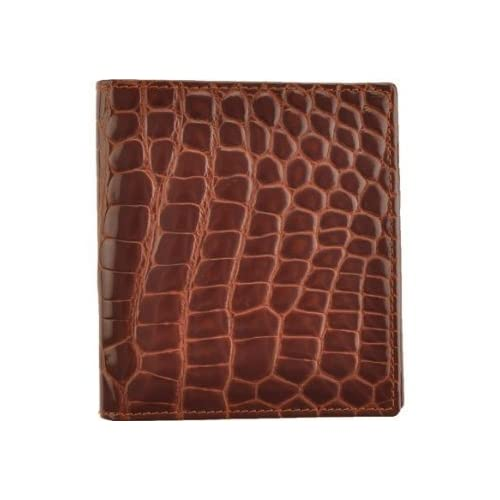 Image of Crocodile Bidente Credit Card Hipster, Brown (US292) Card Cases