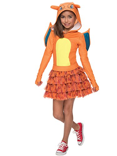 Rubie's Costume Pokemon Charizard Child Hooded Costume Dress Costume, Small