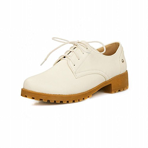 Foot Casual Low Womens up Shoes Heel Charm White Lace Oxfords Ow4dnq4x7