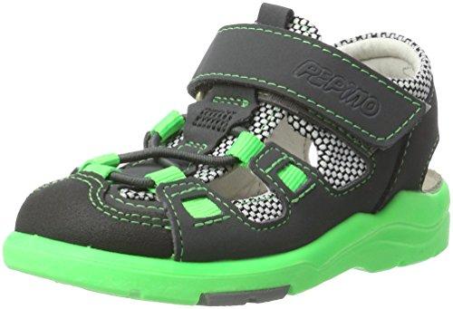 Ricosta Boys' Georgie Closed Toe Sandals, Grey (Antra/Weiss 816), 23 23 EU ()