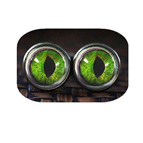 Hanigbibi Dragon Eye cufflinks, Green Dragon Eye, Dragon cuff links, Game of Thrones inspired cuff links (Dragon Cufflinks Green)