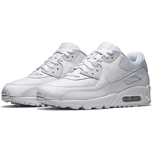 Nike Mens Air Max 90 Essential Exercise Fitness Running Low Cut Sneakers - White/White - 9 by NIKE (Image #5)