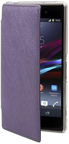 Muvit SECRF0003 Schutzhülle für Sony XperiaZ2, Violett/metallfarben