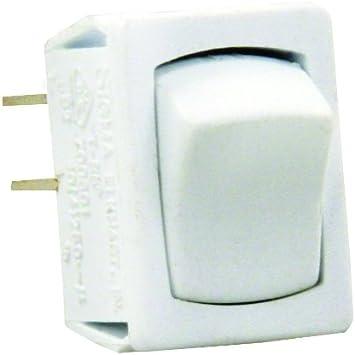 JR Products 12785 Black//Black SPST Mini On//Off Switch