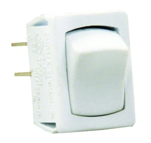 JR Products 13645 White SPST Mini On/Off Switch
