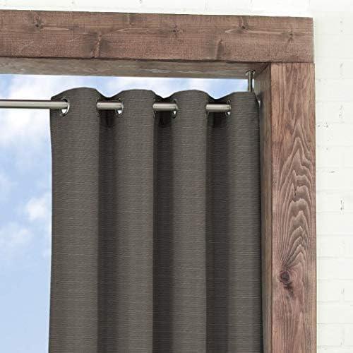 1 pieza 84 cm humo color Gazebo cortina solo Panel, color marrón ...