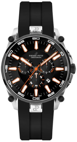 Pierre Petit P-817D - Men's Watch, Silicon, Black Color