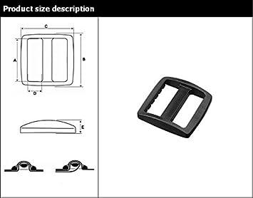 Flyshop 10 Pcs 1//2 Black Plastic Tri-Glides Adjust Buckles for Cat Dog Collar Backpack Straps