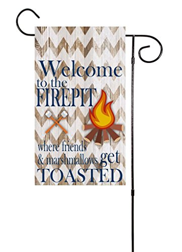 """Welcome To The Firepit – Where Friends and Marshmallows Get Toasted Garden Flag 12""""x18"""" Review"""