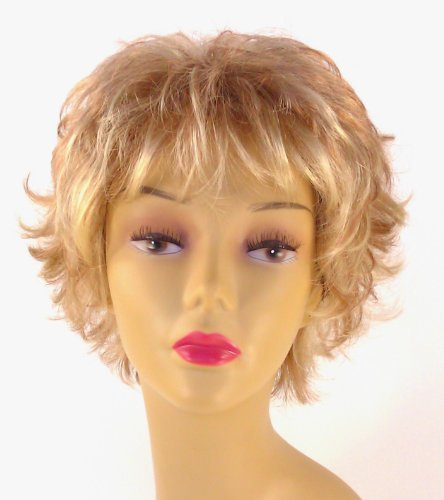 Short Honey Blonde Wig – Quality Kanekalon Synthetic Hair Loss Replacement Natural Looking Fashion for Ladies & Girls -
