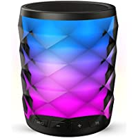TOSOUND 6 Color Changing LED Themes Bluetooth Speaker, Rechargeable Portable Wireless Speaker, Handsfree Calling, Micro SD, AUX-IN Supported