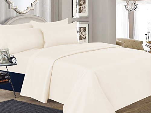 Jordache U.S. Polo Assn. 400-Thread Count 100% Cotton Sateen 4-Piece Sheet Set - Hotel Collection Soft Luxury Bedding Set, Fits up to 18