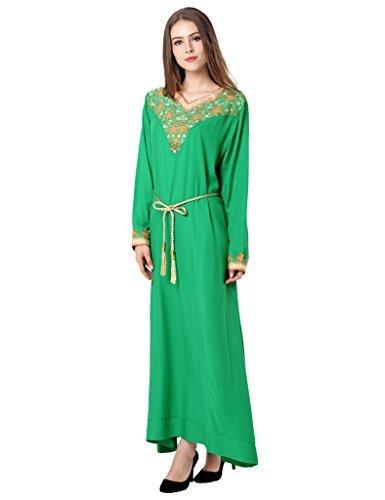 marie Islam musulmanes jupe clair vtements Musulmane soire robe LF14 jalabiya robe abaya partie de vert caftan longue de kaftan femmes E8qPzpqH4