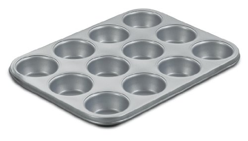 Cuisinart AMB-12MP Chef's Classic Nonstick Bakeware 12-Cup Muffin Pan, Silver