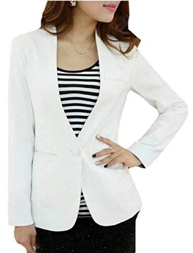 Des Poches Elegant Blanc Vêtements À Couleurs Manches Manteaux Saoye Devant Longues Unies Bouton Mode Hipster Ouest Femmes Revers Américain Automne ftfzYwqH