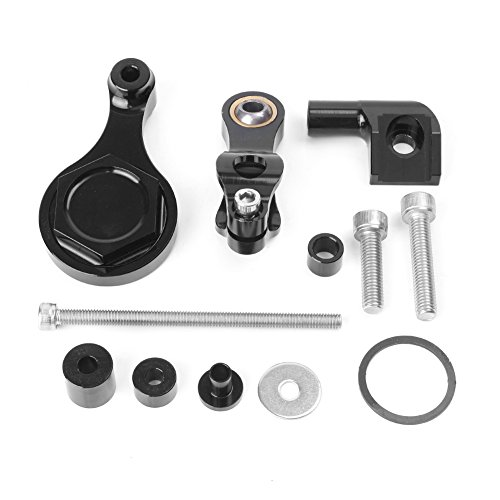 GZYF CNC Racing Motorcycle Steering Damper Mounting Bracket Kit Only for Yamaha YZF R6 & R1 2006-2015 (Best Steering Damper For R6)