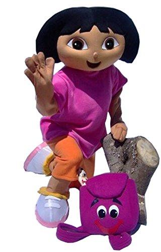 JWUP Purple Character Dora the Explorer Mascot Costume for Adult Dora Party Dress ()