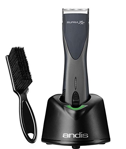 Andis Supra ZR Cordless Detachable Blade Clipper with a BeauWis Blade Brush by Andis