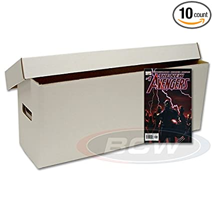 amazon com 10 bcw brand long white comic book cardboard storage