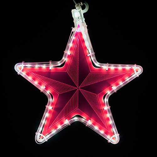 (Wintergreen Lighting Laser Etched Acrylic Clear Christmas Decorations, Lit Window Decorations Christmas Light Decorations Indoor-Outdoor (10