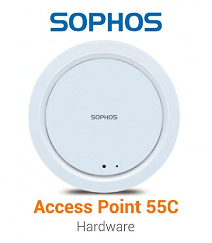 Sophos AP 55C Ceiling Indoor 802.11ac Access Point, 1-Year Warranty - Includes Power Supply by Sophos