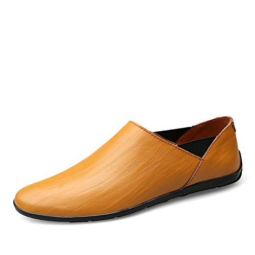 Antideslizante Slip Los Sunny Zapatos Casuales Brown 37 Tamaño Conducción Hombres Moda Mocasines Pu Barco On La amp;baby Cuero Red Yellow color Brown Eu De qw5nZ5S6X